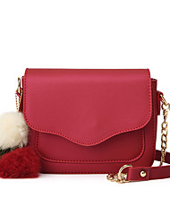 cheap -Women's Bags PU(Polyurethane) Crossbody Bag Fur Solid Colored Navy Blue / Wine / Amethyst