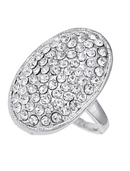 cheap -Men's Women's Band Ring Silver Diamond Alloy Circle Unique Design Logo Style Vintage Euramerican Party Special Occasion Costume Jewelry
