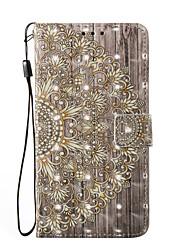 preiswerte -Hülle Für Samsung Galaxy A5(2017) A3(2017) Geldbeutel Kreditkartenfächer mit Halterung Flipbare Hülle Muster Magnetisch Handyhülle für
