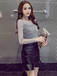 cheap -Women's Evening Party Performance Engagement Party Cocktail Party Prom Wedding Party Classic & Timeless Spring Fall T-shirt Skirt Suits,