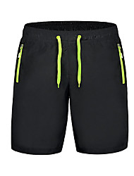 cheap -Women's Running Shorts Quick Dry Ultra Light Fabric Shorts Bottoms Exercise & Fitness Leisure Sports Running Polyester Black/Green