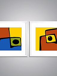 Framed Print Abstract Leisure Modern Realism,Two Panels Canvas Square Print Wall Decor For Home Decoration