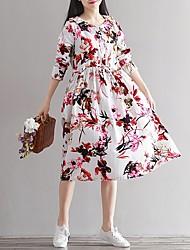 Знак anne forest 2017 новый весенний цветок ретро вентилятор искусства свободные платье хлопка в платье