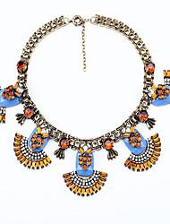 Women's Strands Necklaces Flower Chrome Unique Design Euramerican Fashion Light Blue Dark Red Jewelry For Wedding Congratulations 1pc