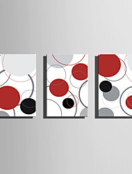 economico -Trasferimenti su tela arte astratta Cerchi colorati Set di 3