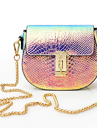 Women Bags All Seasons Other Leather Type Shoulder Bag Sequin for Casual Gold