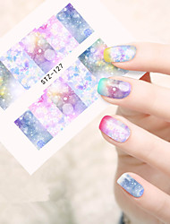 10pcs/set Hot Sale Fresh Style Nail Art Water Transfer Decals Beautiful Butterfly Magical Starry Sky Design Nail Beauty DIY Beauty Decals STZ-127