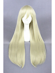 Long Straight fighting boat Wig shimakaze Light Gold Synthetic 32inch Anime Cosplay Wigs CS-248A