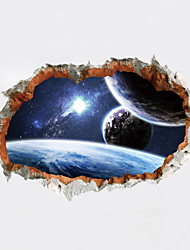 cheap -Wall Stickers Wall Decals Style Cosmic Planet PVC Wall Stickers