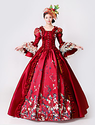 cheap -Steampunk®Marie Antoinette Masquerade Victorian Queen Ball Gown Wedding Dress Reenactment Red Rococo Ball Gown