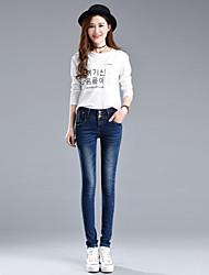 firmare 2017 primavera e vita piena estate jeans donne pantaloni donne&# 39; s pantaloni piedi ms. chao chun