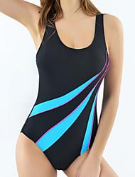 Womens Sexy Fashion  Sports  Striped Tummy Control One-piece Swimsuits(M-XL)