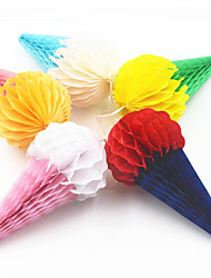 6inch Ice Cream Honeycomb Paper Craft Lantern Flower Ball Married Marriage Easter Wedding Decoration Party Supplies Window Decoration 5pieces-set