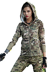 Men's Women's Long Sleeves Hunting Jacket with Pants Quick Dry Classic Top for Hunting Leisure Sports S M L