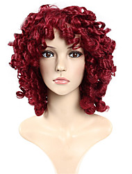 cheap -Synthetic Wig Curly Loose Wave Red Capless Halloween Wig Celebrity Wig Party Wig Natural Wigs Cosplay Wig Synthetic Hair