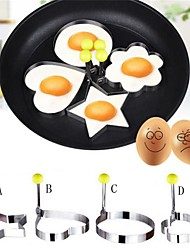 4Pcs/set 10Cm New Design Four Shapes Stainless Steel Fried Egg Shaper Pancake Mould Mold Kitchen Cooking Tools