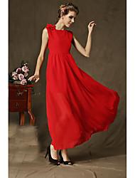 Плечо цветок сексуальный бок щель длина юбка тонкий был тонкий платье скидки