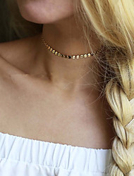 Women's Choker Necklaces Jewelry Round Alloy Basic Unique Design Fashion Costume Jewelry Jewelry For Wedding Party Special Occasion