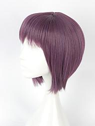 Недорогие -Косплэй парики Косплей Косплей Фиолетовый Короткие платья Аниме Косплэй парики 40 См Термостойкое волокно