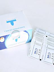 200 pcs / arte do prego da caixa remove os toalhetes das almofadas para a aplicação uva do lustrador de prego do gel facilmente