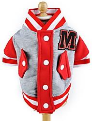 cheap -Cat / Dog Sweatshirt Dog Clothes Color Block Red / Blue / Pink Cotton Costume For Pets Men's / Women's Sports / Fashion