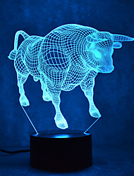 cheap -Bull Touch Dimming 3D LED Night Light 7Colorful Decoration Atmosphere Lamp Novelty Lighting Light