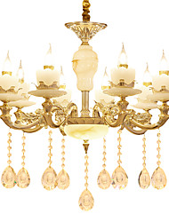 European Style Atmosphere Zinc Alloy Crystal Living Room Bedroom Home Chandelier P