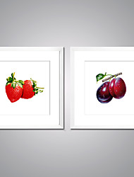 cheap -Framed Canvas Print Still Life Food Modern Realism,Two Panels Canvas Square Print Wall Decor For Home Decoration