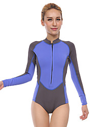 Women's 3mm Wetsuits Quick Dry Anatomic Design Moisture Permeability Breathable Neoprene Diving Suit Long Sleeve Diving Suits-Diving