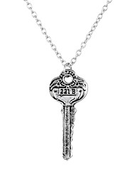 Lureme Movie Jewelry Sherlock 221B Key Pendant Necklace for Fans-Antique