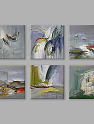 economico -Dipinta a mano Astratto Quadrata,Modern Stile europeo Più di Cinque Pannelli Tela Hang-Dipinto ad olio For Decorazioni per la casa