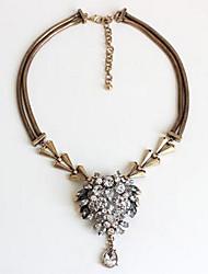 Women's Pendant Necklaces Statement Necklaces Imitation Pearl Synthetic Diamond Synthetic Gemstones Chrome Rhinestone Fashion Vintage
