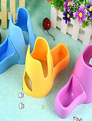 Недорогие -Миски и бутылки с водой Портативные Многофункциональный Складной Водонепроницаемый С возможностью регулировки Розовый