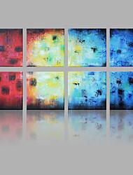 Handgemalte Abstrakt Quadratisch,Modern Europäischer Stil Mehr als fünf Panele Leinwand Hang-Ölgemälde For Haus Dekoration
