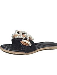 Недорогие -Для женщин Тапочки и Шлепанцы Сандалии Удобная обувь сутулятся сапоги Полиуретан Лето Повседневные Для прогулокУдобная обувь сутулятся