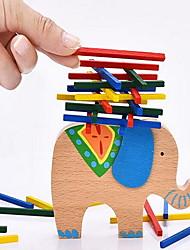 economico -Costruzioni Costruzioni giocattolo Torre componibile Gioco educativo Giocattoli Elefante Bilanciamento Per bambini 1 Pezzi