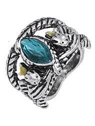 cheap -Women's Turquoise Alloy Band Ring - Circle Unique Design Logo Style Vintage Euramerican Hip-Hop For Party Special Occasion Halloween