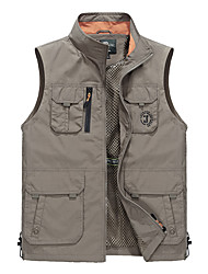 cheap -Men's Hiking Vest Waterproof Thermal / Warm Quick Dry Breathable Jacket Top for Camping / Hiking Fishing Backcountry Spring Fall/Autumn L