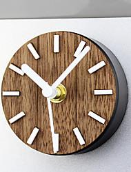 retro nostalgia ländlicher Massivholz Kühlschrank Stick Wanduhr kreative magnetische Kühl Paste Wanduhr