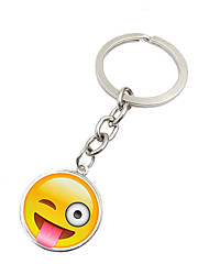cheap -Key Chain Circular Key Chain Silver Metal