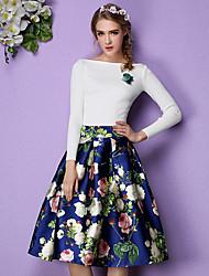 preiswerte -Damen Rock Röcke - Blumen, Druck