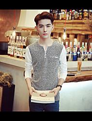 -p35- hommes nouveaux&# 39; T-shirt à manches longues casual nouveau café supermarchés