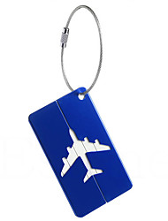 cheap -1pc Luggage Tag Anti Lost Reminder for Anti Lost Reminder Aluminium Alloy - White Black Dark Blue tea brown Wine