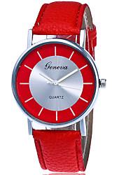 Damen Modeuhr Armbanduhr Quartz Leder Band Cool Bequem Kreativ Schwarz Weiß Rot Weiß Schwarz Rot