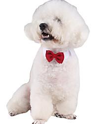 Gato Cachorro Gravata/Gravata Borboleta Roupas para Cães Clássico Fofo Fantasias Aniversário Férias Casual Reversível Casamento Fashion