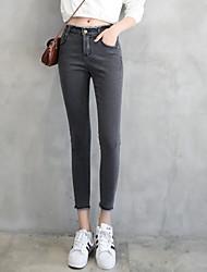 segno di primavera 2017 bordo lana nove punti dei jeans pantaloni femminili fessura pantaloni sottili piedi studentessa