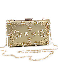 cheap -Women Bags PU Evening Bag Rhinestone Bead Flower Petals for Wedding Event/Party Casual Formal Office & Career All Seasons Gold White