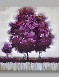 IARTS Modern Abstract Landscape Painting Purple Trees Wall Art For Home Decor Stretchered Ready To Hang