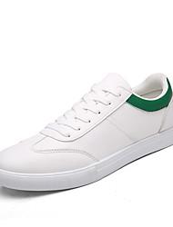 sapatilhas dos homens Primavera-Verão tornozelo pulseira de couro ocasional lace-up