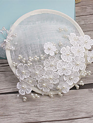 cheap -Imitation Pearl Lace Fabric Fascinators 1 Wedding Special Occasion Headpiece